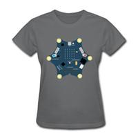 ropa de mujer moderna al por mayor-Cool girls street camiseta de diseño geométrico moderno de las mujeres camisetas diarias de estilo joven hip hop ladies ropa de manga corta