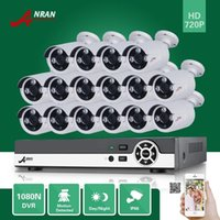 Plug and Play ANRAN 16CH HDMI 1080N DVR 16PCS 720P Outdoor Array IR Day Night Sistema de vigilância de segurança CCTV Security System