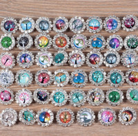 Wholesale Earrings Supplies - New 18 mm noosa button DIY button pendant earrings bracelet accessories foreign trade jewelry supplies Metal Snap Button 4053