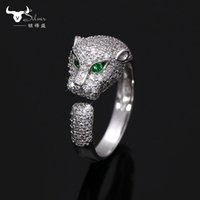 Wholesale Leopard Car Accessories Set - men women ring leopard car tier style ring 925 silver wedding diamond anniversary ring fashion accessories