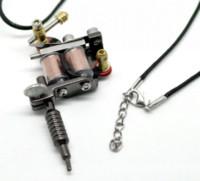 "Wholesale Mini Tattoo Pendants - 1PC Gunmetal Mini Tattoo Machine Necklace 45cm(17-3 4"")W00113 Mr.Jewelry Cheap jewelry screw High Quality jewelry spain"