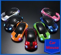 Wholesale Wholesale Modle Cars - 2.4G car wireless mouse sport car modle mixed color notebook computer universal wireless mouses laptop mice free shipping