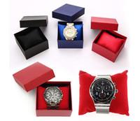 caisse d'oreiller à bijoux achat en gros de-20 PCS montres boîte papier boîte de montre avec oreiller 6 couleurs papier boîtes cadeau étui pour boîte à bijoux montre boîtes boîtes