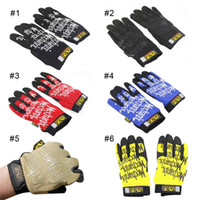 Wholesale Plain Gloves - MECHANIX WEAR Seal Gloves Tactical Outdoor Men's Racing Gloves Military Riding Sports Gloves Sport Glove 2503018
