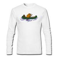 funky hemden großhandel-Neue beste empfehlen tees funky cool Beaver Kanu Stickerei auf Shirts maßgeschneiderte komfortable Herren T-Shirts