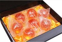 bola de cristal de anime al por mayor-Juego de bola de cristal de 7 estrellas de DragonBall de 7 cm de animación de 7 piezas nuevas en la caja dragon ball Z completa anime manga
