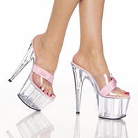 Wholesale Transparent Pvc Red High Heels - Transparent fashion sandals Cinderella's glass slipper shoes during summer high-heeled shoes the new model high-heeled sandals