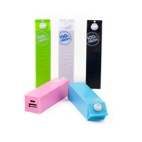 Wholesale milk power - Power Bank 2600mAh for iPhone6s for Galaxy S7 edge for Cellphone Portable Milk Style Charger 50pcs up