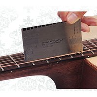 Wholesale Bass Steel - 2018 Acoustic Electric Guitar String Action Ruler Gauge Steel Tool Setup in mm for Guitar Bass