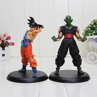 anime figur drachen ball gesetzt großhandel-2 teile / satz Japan anime Dragon Ball Action-figuren Goku Piccolo Super Saiyajin und Dämon König PVC action figure 22 cm
