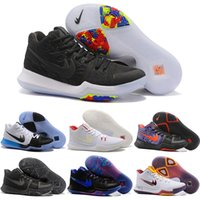 Wholesale Lace Punch - 2018 New Style Kyrie Irving 3 Hot Punch Team Red Christmas Mens Basketball Shoes Top quality Kyrie 3 Air Cushion Sport Sneakers 40-46