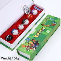 Wholesale Original Pokemon - New 6Pcs Set Anime Pocket Monster Poke Ball Cosplay Pendant Necklace High Quality with Original Box
