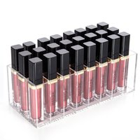Lip Gloss Holder Organizer clear Acrílico Stand Display Case Lipstick Rack