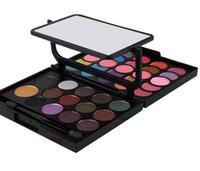 color crema de perlas al por mayor-Mujeres 39 Color Cosmético Perla Sombra de Ojos Crema de Sombra de Ojos Maquillaje Paleta Shimmer Set con Espejo DHL Envío Gratis