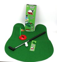 Funny Exotic Leisure Sports Toy Alta Calidad Potty Putter Toilet Juego de Golf Mini Golf Set WC Golf Putting Green