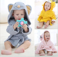 Wholesale Kids Bathrobe Animal Characters - Fashion Designs Hooded Cartoon Animal Modeling Baby Bathrobe Cartoon Baby Towel Character Kids Bath Robe Infant Beach Towels Assorted Color