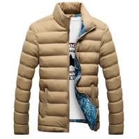 Wholesale Men Jacket Parkas - Wholesale- 2017 Casual Ultralight Mens Cotton-Parkas Jackets Autumn & Winter Jacket Men Lightweight Jacket Men Overcoats