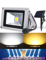 Wholesale Solar Power Led Outdoor Flood - 10W Solar Powered Lamp LED Floodlight Waterproof Outdoor Flood Light Garden Yard Lawn Light Landscape Spotlight Wall Lamp Decoration Light