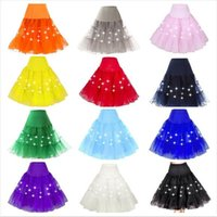Wholesale Led Elastic Ball - 13 Colors Sexy Lady LED Skirts Knee Length Skirts Solid Tulle Ball Gown Jupe Saias Waist Elastic Ladies LED Dancing Skirt CCA8105 10pcs