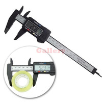 Wholesale Carbon Fiber Pricing - Wholesale-3 Sets Lot 6inch 150mm Electronic Digital Caliper Ruler Carbon Fiber Composite Vernier Prices Digital Calipers Prices