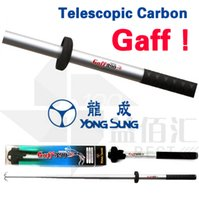 Wholesale Fishing Gaff - Telescopic Carbon Fishing Gaff YONG SUNG Octopus Fish Rods Fishing Tackles Equipments Squid Landing Hooks New 2017 DISCOUNT FREE SHIPPING