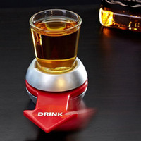 Novely Spin The Shot Glass Giradischi Giocattoli Bere Gioco Shot Glass With Spinning Wheel Bar Wine Games Bomboniere