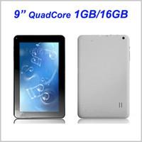планшет a33 16gb оптовых-9 дюймов четырехъядерный 1 ГБ оперативной памяти 16 ГБ ROM Allwinner A33 Android 4.4 KitKat планшетный ПК 1.3 ГГц двойная камера Wifi MQ5