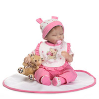 """Wholesale Reborn Mohair - Wholesale- NPK Silicone baby dolls for sale 16"""" 40cm reborn baby girl dolls rooted mohair magnetic mouth pacifier bebe alive reborn menina"""
