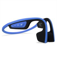 Wholesale Usb Neck Straps - Newest S.Wear LF-19 Wireless Bone Conduction headphone Stereo Headset BT 4.1 Waterproof Bluetooth Neck-strap NFC Earphone Hands-free