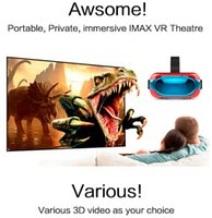 5 VR Box Head Mont Plastic VR Réalité Virtuelle Lunettes BT Wifi RK3126 1 Go / 8 Go Android 5.1 mobile 3D Cinema tout-en-un 3D Movie Game Glasses
