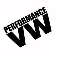 Wholesale Volkswagen Windshield Decal - Wholesale Reflective White & Black PERFORMANCE V W Logo Glue Sticker for Volkswagen VW Models Car Windows Rear Windshield Door Decal Badge