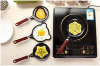mini tava toptan satış-Sevimli Kitty Karikatür Mini Yapışmaz Kahvaltı Omlet Tava Gözleme Yumurta Fritöz Skillet Fry Tava Kalıpları (no kapaklar) Tencere