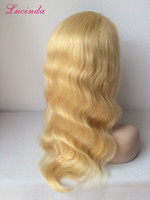 Prida Star 18inch Chinois Cheveux Blonde Cheveux Pleins En Lace Body Wave # 613 Blonde Glueless Lace Front Cheveux Humains Perruques Chinois Virgin Hair Lace Wigs