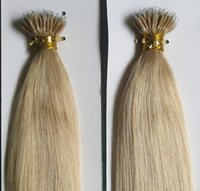 5A Grado 10-28 '' Straight 100 Beads + 0.5g * 100s Black Brown Blonde Mixed Ombre Colors 100% Indian Remy Extensiones de cabello humano Nano Rings