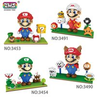 2200 + PCS diamond Size Anime Figure Mario y su hermano Louis familia Building Blocks Juguetes DIY Bricks con pantalla de visualización Modelos de dibujos animados