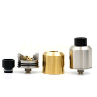 Wholesale Rda Metal Tips - O-Atty RDA 1:1 Clone Odis O ATTY Rebuildable Dripping Atomizers With Two Drip Tips 22mm Bottom Feeder Pin Fit Vape Box Mods