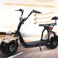 Wholesale Bike E Seat - Adult Citycoco Electric Scooter Cheap Gear Bike Parts Tire E-Bike 1000w Automatic Charged With Battery Double Seat Brake Shock Absorption