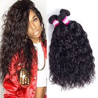 Wholesale Pretty Virgins - 8A Mink Brazilian Water Wave Virgin Hair 3 4pcs Pretty Malaysian Peruvian Brazilian Hair Weave Bundles Wet and Wavy Virgin Human Hair Wefts
