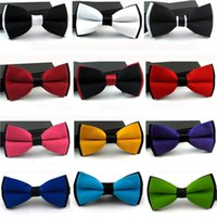 Wholesale mens green bow tie for sale - Group buy England Style Bow Tie Mens Formal Wear Business Bowtie For Solid Color New Arrival mc C R