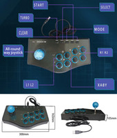 joysticks de arcade para pc venda por atacado-Venda quente usb wired game controller arcade luta joystick vara para ps3 android computador pc gamepad