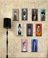 ingrosso idee di arti-Modern Contracted Sitting Hangs Picture Murales European Ideas Ornament Picture Meter Box Quadri senza cornice Acquarello Art Poster