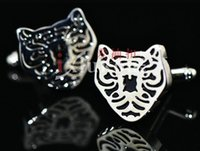Wholesale French Tiger - 2017 Wholesale high quality animal tiger metal cuff links , men Copper sleeve nail French cufflink , cuff links knots XK29