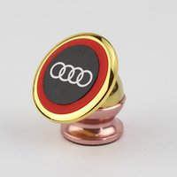 Wholesale Phone Holder Bmw - Magnetic Holder High Quality Car Interior Phone Holder Logo Print Mobile Phone Stand Air Vent Popsock for BMW Audi Buick Volkswagen Toyota