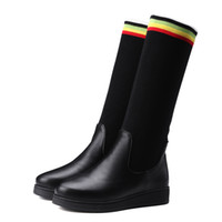 Wholesale Roman Leg - New winter boots flat boots boots show legs Europe and the United States and Russia's favorite Exempt postage