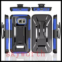 Wholesale Apple Holster - Shockproof Hybrid Heavy Duty Case W  Kickstand Belt Clip Holster for iphone 7 6 6S Plus Samsung Galaxy S6 S7 Edge Note5 LG