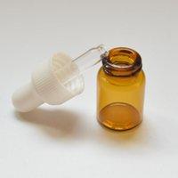 e saftproben großhandel-Schnelles Verschiffen 5000 stücke 1 ml Parfüm Probe Braunglasflasche e-liquid Glas Tropfflasche Ätherisches Öl Glas e saft fläschchen