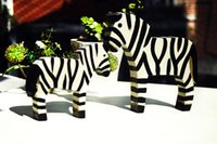 2set / 4pcs Home Furnishing Nordic Holz Carving Ornamente Pony Tier Zebra Home Furnishing Home Einrichtung kreative dekorative Accessoires