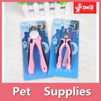 Wholesale Dog Nail Clippers Combs - Pets Nail Clipper Cutter Grooming For Dogs Cats Animal Claws Scissor Cut 2 Colors Blue And Pink 160909