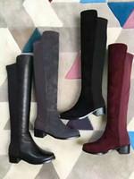 Acquista Online sopra sopra sopra gli stivali di cuoio inferiori del ginocchio   b2b38c
