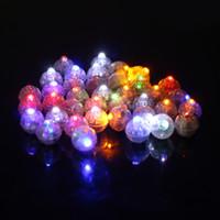 mini luzes de papel venda por atacado-Rodada Levou Bola Lâmpadas Mini Lanterna Balão de Luz Coloque em Lanterna De Papel Para Festa de Casamento Decoração Decoração Floral